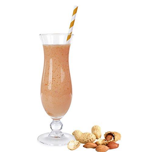 Erdnuss Geschmack Eiweißpulver Milch Proteinpulver Whey Protein Eiweiß L-Carnitin angereichert Eiweißkonzentrat für Proteinshakes Eiweißshakes Aspartamfrei (1 kg)