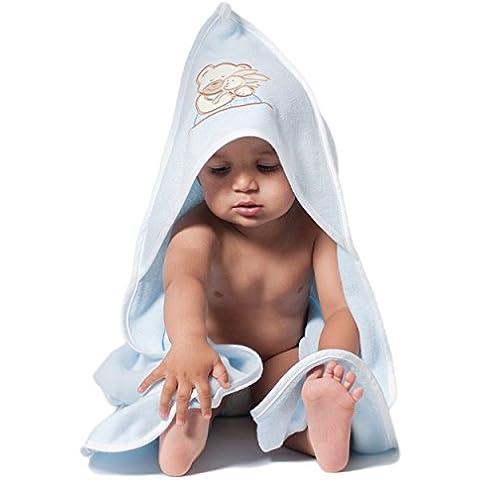 Toalla de baño con capucha bordado–Doble Cara–Algodón orgánico–Extra–Forro polar, tamaño grande, 100x