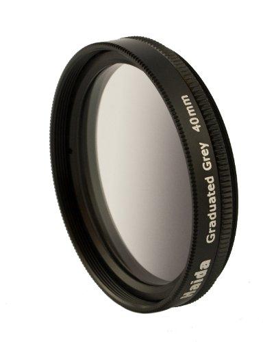 Grau Verlaufsfilter für Fuji X10 / X20 / X30 - Spezialgröße 40mm - Inkl. passendem Objektivdeckel