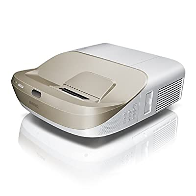 BenQ W1600UST 1080p DLP Home Cinema Projector, Ultra Short Throw, 3300 Lumens, 13000:1 Contrast Ratio with 2 x 10 W Speakers, HDMI, White