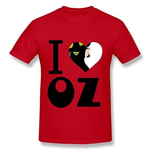 Dzzlee Clothes Herren T-Shirt Gr. M, Schwarz - Rot