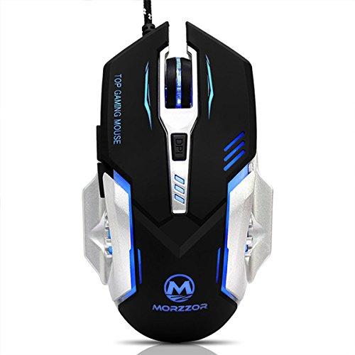 Tutoy 3200 Dpi Einstellbar 6 Knöpfe Wired Led Optical Macro Programmierbare Gaming Mouse Für Pc Laptop-Schwarz