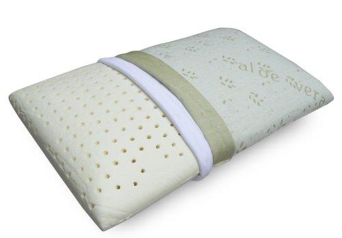 Notturno cuscino 100% lattice a saponetta per cervicale tessuto aloe sfoderabile