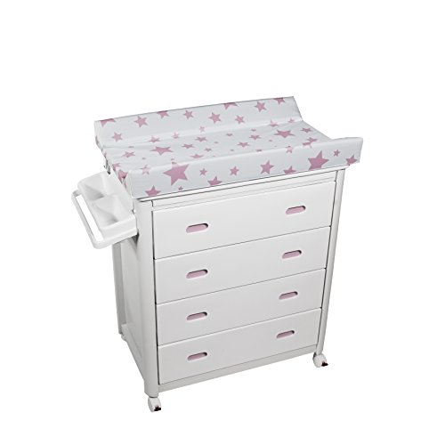 Plastimyr - Bañera cajones Blancos ESTRELLAS Rosa