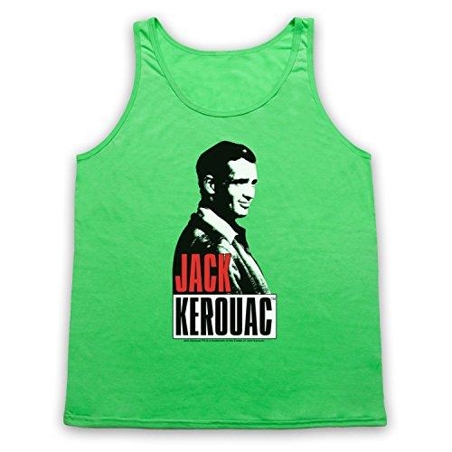 Jack Kerouac On The Road 2 Tank-Top Weste Neon Grun