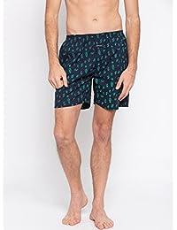 Nick & Jess Mens Navy Blue Tower Print Cotton Boxer Shorts
