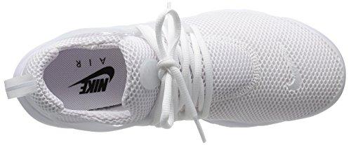 Nike 848132 100, Basses Mixte Adulte White/White/Black