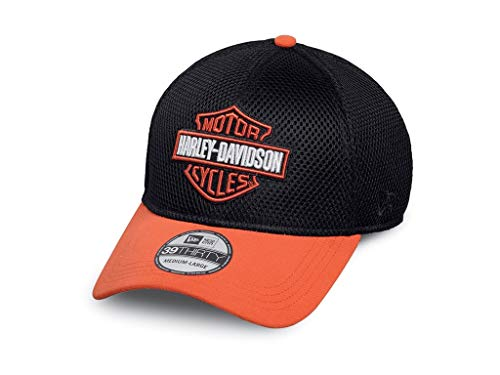 Harley-Davidson Colorblock Logo 39THIRTY Cap 99447-16VM Herren Hat, schwarz, S