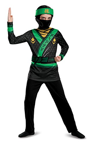 LEGO Ninjago Movie Lloyd Jumpsuit Dress Up Costume, Multi-Colour, 7 - 8 Years