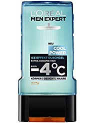 L'Oreal Men Expert Cool Power Duschgel sorgt mit Menthol für einen kühlenden Effekt nach dem Sport (2 x 300 ml)