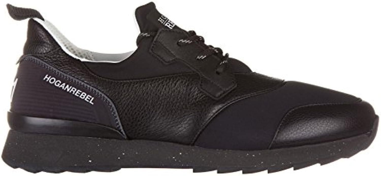 Zapatillas de Cuero y Tela Hogan Correr Negro - Número de Modelo: HXM2610U390D8D0XCR -