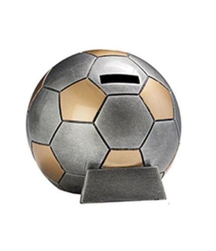 RaRu Fussball-Spardose mit Wunschgravur und 3 Anstecknadeln (Sticker)
