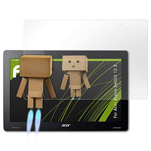 atFolix Bildschirmfolie kompatibel mit Acer Aspire Switch 12 S Spiegelfolie, Spiegeleffekt FX Schutzfolie