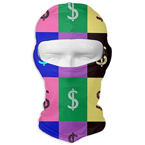 Xukmefat Dollar-Zeichen und USD-Symbol Symbol Ski-Maske Fahrrad Gesichtsmaske Schlauchschal Headwear ()