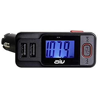 aiv 530414 FMT 719 BT-RDS Bluetooth FM Transmitter (mit Freisprechfunktion) schwarz