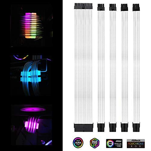 Extension Kit 300 mm mit RGB Kabelkämmen - 24-PIN 6 + 2-PIN 4 + 4-PIN mit RGB-Kämmen für Kabelmanagement mit RF Fernbedienung ()