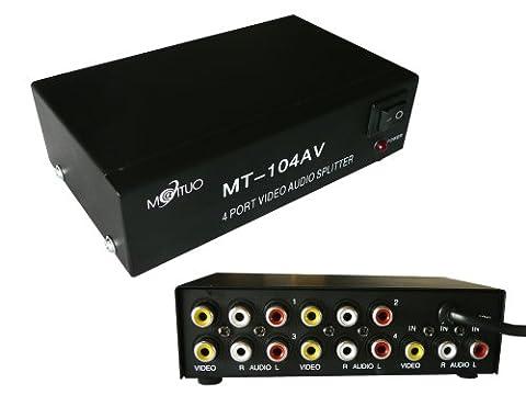 Kalea-Informatique Splitter für Audio und Video, Stereo, 4Ports–1Eingang/4Ausgänge
