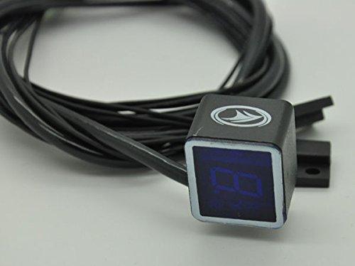 Yosoo (tm)-indicatore digitale universale per moto con sensore luce leva del cambio, colore: blu