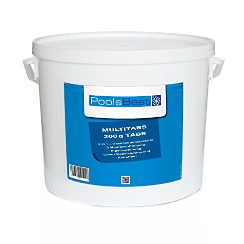 10 Kg - PoolsBest® Chlor Multitabs 5in1, 200g Tabs -