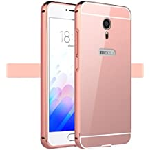 Prevoa ® 丨Meizu M3 Note Funda - Metal Frame Funda Cover Case para Meizu M3 Note 5,5 Pulgadas Smartphone - Rosa