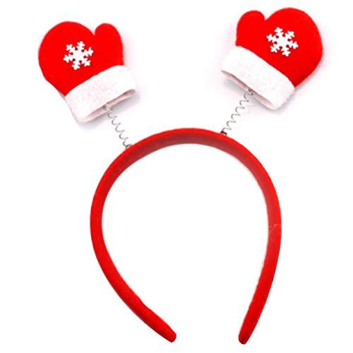 Huixing Mode 2Pcs Erwachsene Kinder Weihnachten Stirnband Hut Kostüm Haarspange Rentier - 03