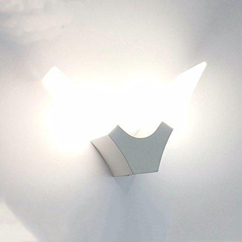 YJNB Bianco Caldo 6W Led Lampada Da Parete Minimalista Camera Da Letto Soggiorno Corridoio Applique A Parete Acrilico Illuminazione Luce Ac85-265V Per Montaggio Superficiale