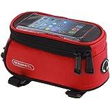 MaMaison007 ROSWHEEL bicicletas móvil táctil pantalla bolsa tubo bolsa - rojo-M