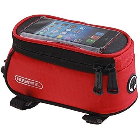 MaMaison007 ROSWHEEL bicicletas móvil táctil pantalla bolsa tubo bolsa - rojo-L