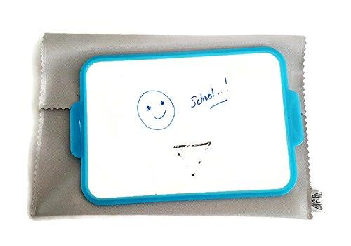 Preisvergleich Produktbild Schützt Schiefer Kindergarten hellgrau personalisierbar Stickerei Namen Schutzhülle Schiefer Velleda Kinder Filzstift handgefertigt in Frankreich DEA