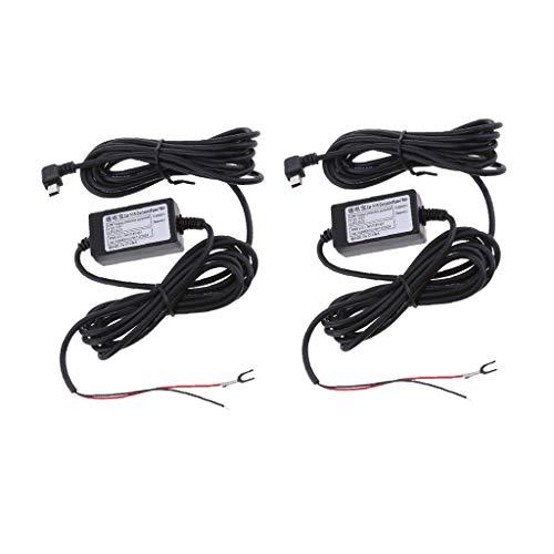 KESOTO 2 STK. Auto Dash Cam Hardwire Kits 12 / 24V Bis 5V 1.5A Mini USB Abgewinkeltes Kabel Kit 24v Cam