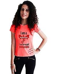 LetsFlaunt I m a khaleesi T-shirt salmon girls Dry-Fit Nw