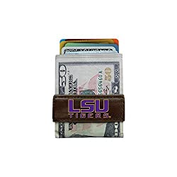 NCAA LSU Tigers Classic Football Money Clip Wallet, One Size, Brown