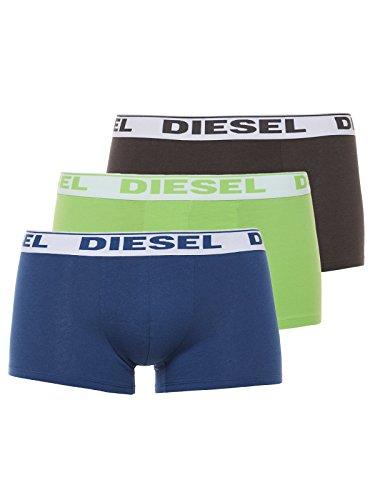 DIESEL Herren UMBX-SHAWN Boxershorts, 3er Pack Limone/Blau/Schwarz