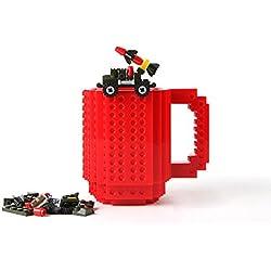 Creativa Build-a-ladrillo Taza-Rojo