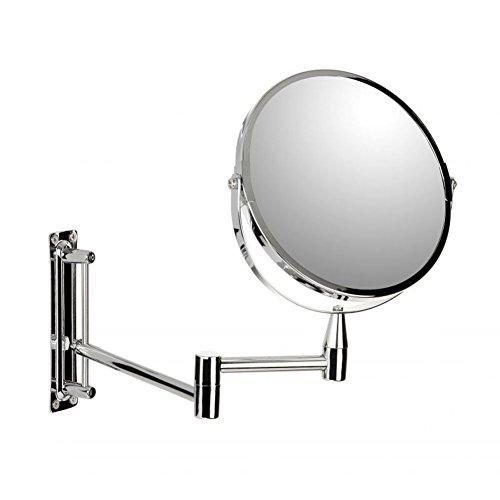 Hochwertiger Kosmetik-Spiegel mit 5-facher Vergrößerung / Wandbefestigung / handlicher Schminkspiegel / Vergrößerungsspiegel / Rasierspiegel / Make-Up Spiegel Badezimmer