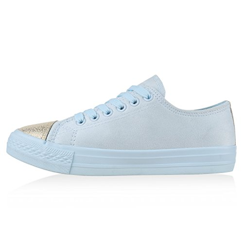 Damen Sneakers Glitzer Pastell Sportschuhe Zipper Freizeit Schuhe Hellblau