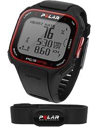 Polar RC3 GPS HR - Reloj con pulsómetro y GPS integrado, compatible con sensor de zancada, de cadencia y de velocidad para running y ciclismo (negro)