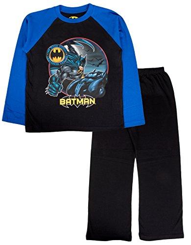 "DC Comics - Pijama dos piezas - Manga Larga - para niño negro Batman - ""Impact Resistant"" 4-5 Años"