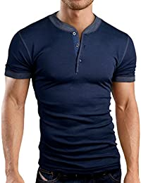 Grin&Bear coupe slim henley T-Shirt, GB145