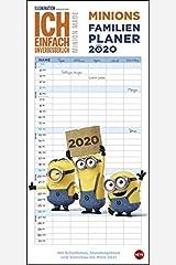 Minions Familienplaner 2020 21x45cm Kalender