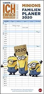 Minions Familienplaner. Wandkalender 2020. Monatskalendarium. Spiralbindung. Format 21 x 45 cm (3840168449) | Amazon price tracker / tracking, Amazon price history charts, Amazon price watches, Amazon price drop alerts