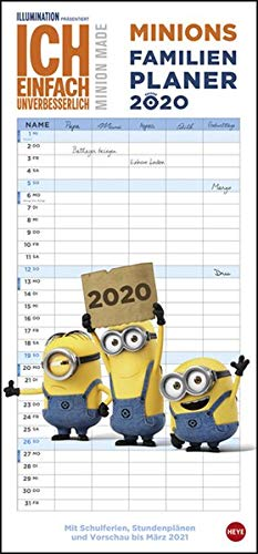 Minions Familienplaner 2020 21x45cm