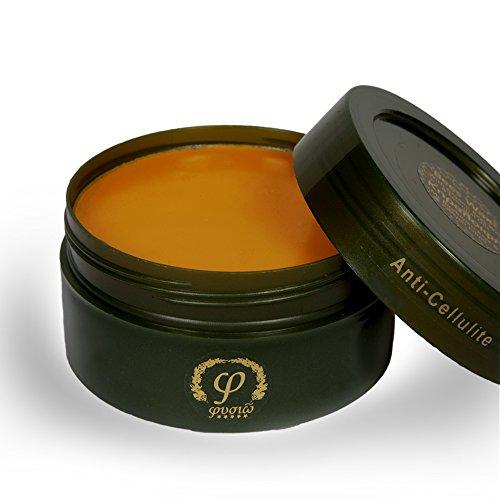 Fysio Natürliche und Biologische Anti-Zellulite Bienenwachs Crème - Hergestellt aus natürlichen Inhaltsstoffen - 200ml - Großartig zum Straffen der Haut und Reduzierung von Cellulite