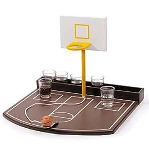 Trinkspiel Basket 6 Schnapsglaesern 30X30X22,5 Cm.
