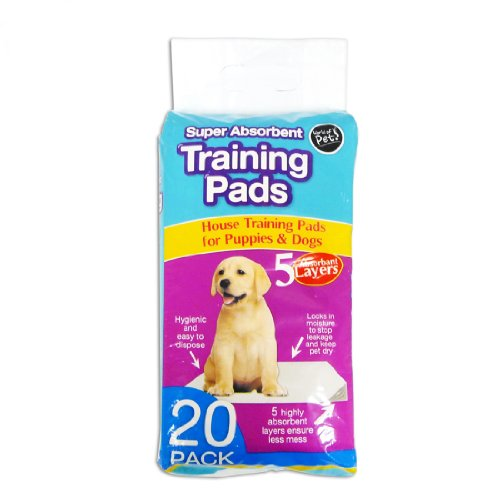 World of pets Pack of 20 Super Absorbent Premium Puppy Dog Training Pads 60 x 45cm