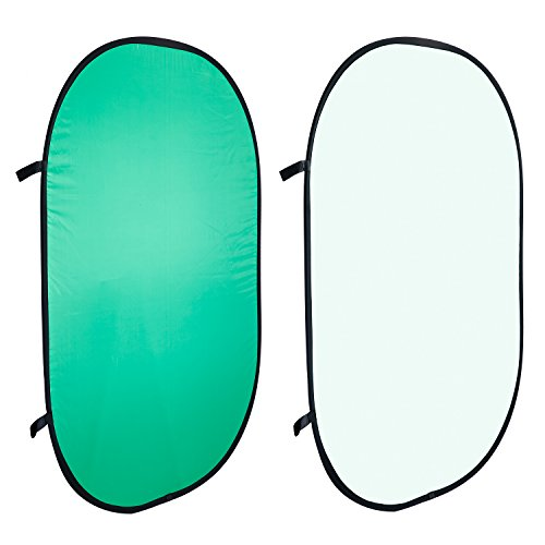 Neewer doppelseitiges drehbares Musselin-Hintergrund-Panel mit Tragebeutel, 150x 200cm, für Fotografie, Studio, Video (grün/weiß) -