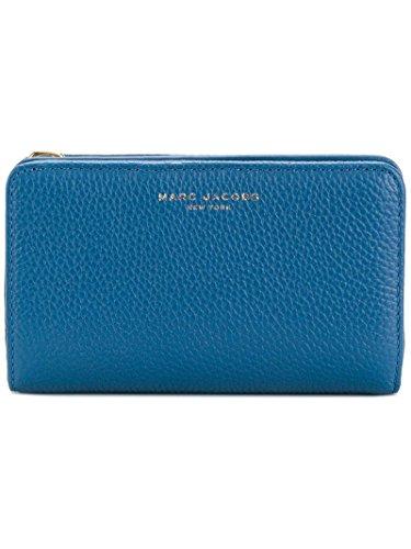 Marc Jacobs Damen Gotham Compact Geldbörse, Blau (Pacific), 3x8x14 cm