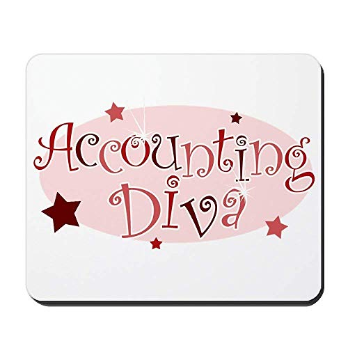 ncnhdnh Accounting Diva [Red] - Non-Slip Rubber Mousepad, Gaming Mouse Pad - Diva Trockner