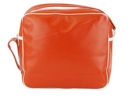 Merc Borsa Spalla Uomo London Record Stile Retrò Zip Misura 38x29x8cm Nuova (Rosso) W38cm (15 inch) X H29cm (11 inch) X 8cm (3 inch) rosso