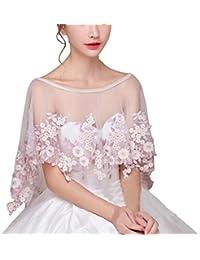 Vestidos de Boda Chales de Novia del cordón de Las Mujeres del Estilo de la Moda S